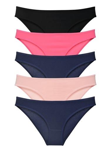 Sensu Kadın Basic Külot Karışık Renkler 5 Li Paket Kts1037 Renkli